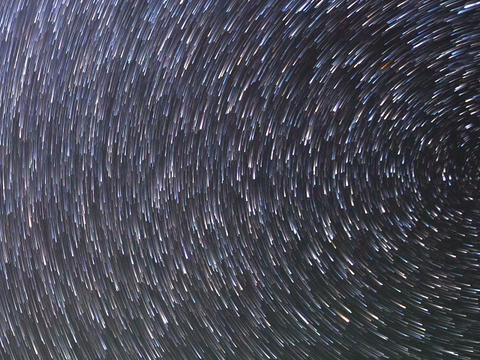 Traces Of The Stars. Zoom. Time Lapse. 640x480 stock footage