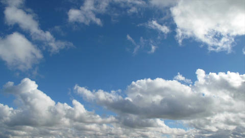 White Clouds And Blue Sky Time Lapse stock footage