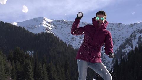 Winter Fun in Nature Footage