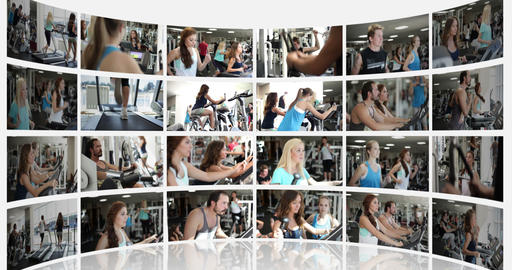 Not Moving Montage Presentation of a Fitness Centr Footage