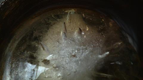 Ice spinning very slowly 08 ビデオ