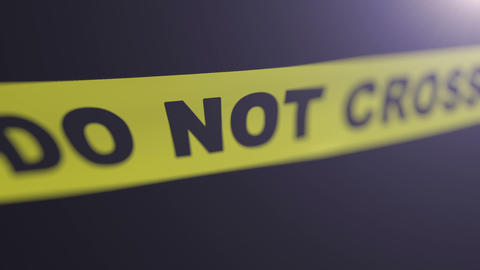 Crime Scene Tape. Matte Channel Included. Shallow stock footage