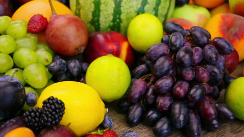 Still Life With Fruits And Berries stock footage