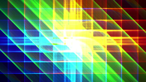4K Prismatic grid star abstract background d3 Animation