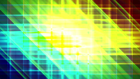 4K Prismatic grid star abstract background d2 Animation
