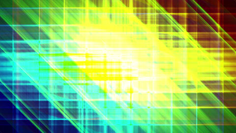4K Prismatic grid star abstract background d1 Animation