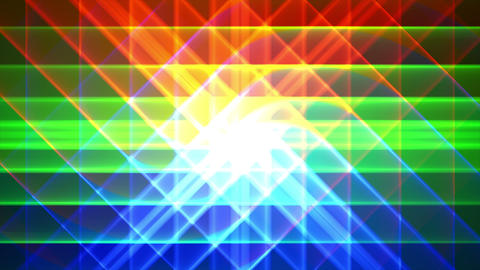 4K Prismatic grid star abstract background loop a4 Animation