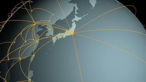 Global Network Tokyo Up CG Animation