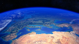 Planet Earth Rotating Past Europe And North Africa stock footage