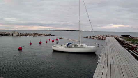 Yatch attached to the dock Footage