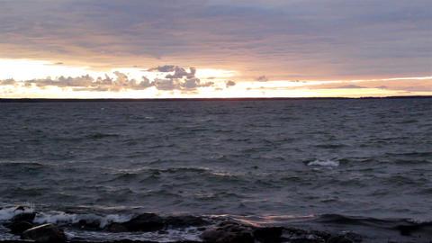 Tranquil sea on sunset Footage