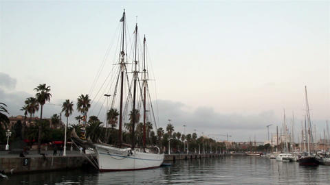White yacht on port Footage