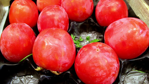 Healthy and nutritious ripe eco tomatoes Footage