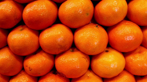 Close up view of the piled orange Footage
