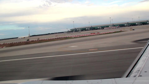 Road beside the airport Footage
