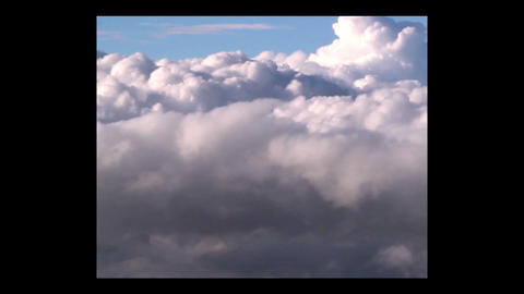 Thick formation of clouds Footage