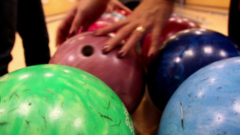 Upclose image of bowling ball Footage