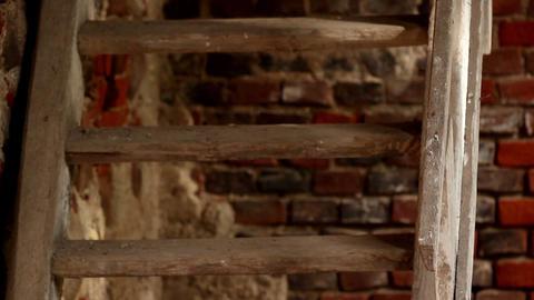 Door locked a a rusty padlock Footage