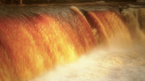 Strong current as the water falls Footage
