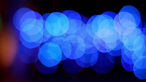 Set of blue bokeh lights Footage