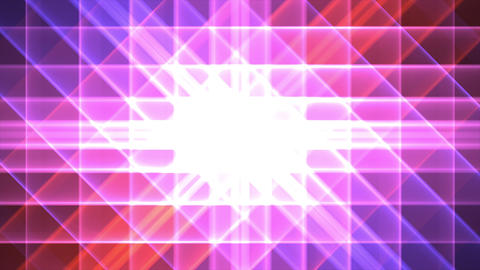 4K Prismatic grid star abstract background pink pu Animation