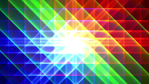 4K Prismatic grid star abstract background RGB b4 Animation