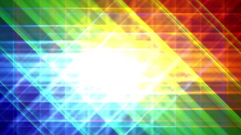 4K Prismatic grid star abstract background RGB b3 Animation