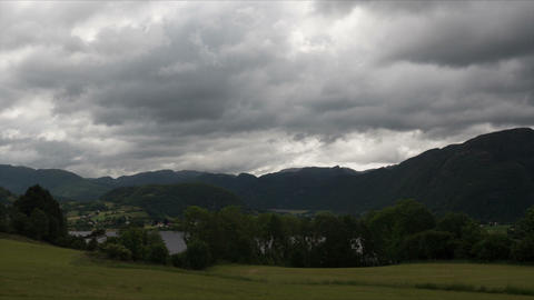 1080p, Time Lapse of Ardal landscape, Norway Footage