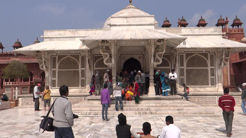 Shrine In Fatehpur Sikri stock footage
