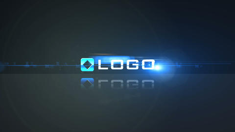Business Logo Build from Pieces Light Flares Anima After Effects Template