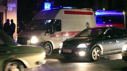 Ambulance On Road stock footage