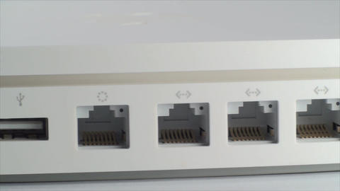 White Router Isolated On White, Ethernet, Connecti Footage