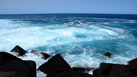 Puerto de la Cruz beach, Tenerife Footage