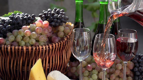 Festival Of Young Wine stock footage