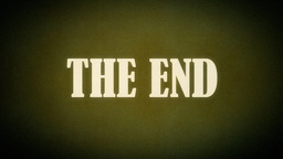 Film vintage The End animation old western Footage