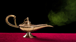Magic Lamp stock footage