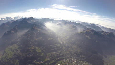 360°+ Alps Aerial View - 3000m stock footage