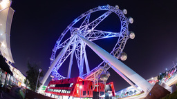 4k Timelapse Video Of The Melbourne Star Ferris Wh stock footage