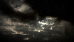 4K Dark Moody Storm Sky Simulated Rain stock footage