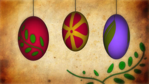 Animation of Easter eggs Footage