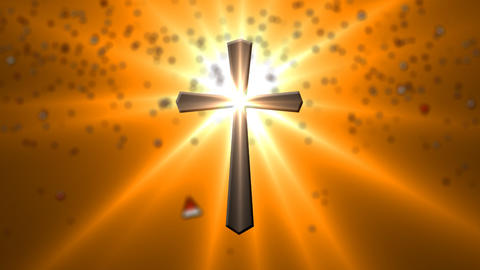 Animated inscription Jesus saves and cross ライブ動画
