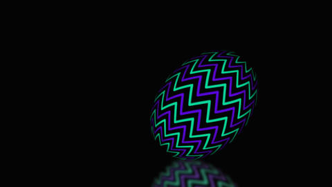 Animated Easter egg rolling one by one Footage