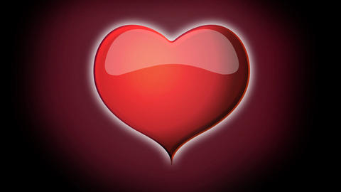 Spiral red heart with red background animation for Footage