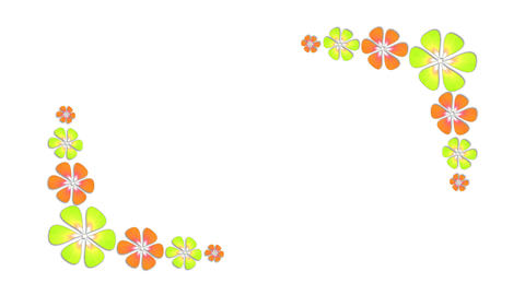 Colorful florals growing animation ライブ動画
