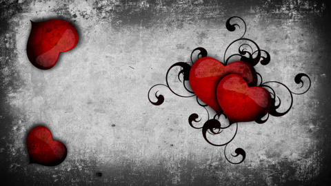 Hearts on a wall-look background Footage