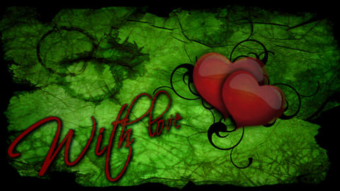 With love inscription with beating heart for Valen Footage