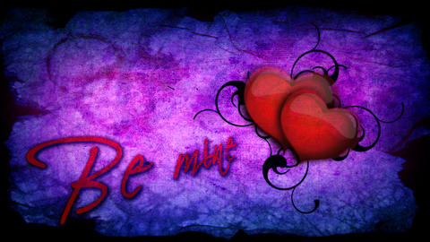 Be mine inscription with beating heart for Valenti Footage