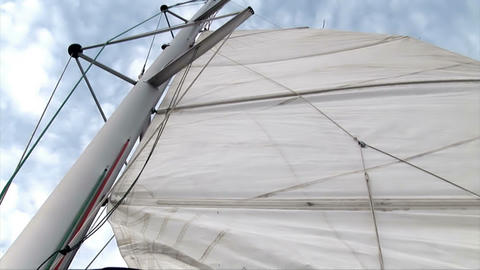 View Of The Sail stock footage