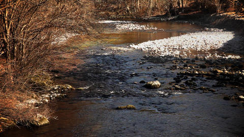 river in winter Footage