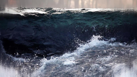 Still shot of running water Footage